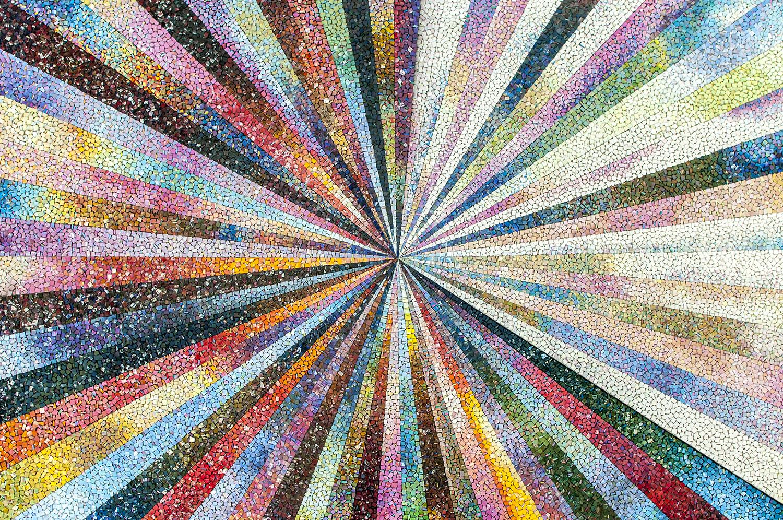 Mosaico iridescente