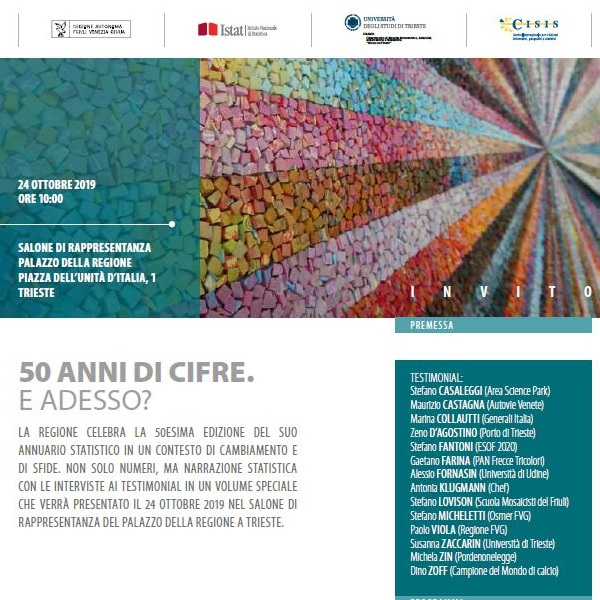 invitation about the presentation of regional statistical yearbook (Annuario)