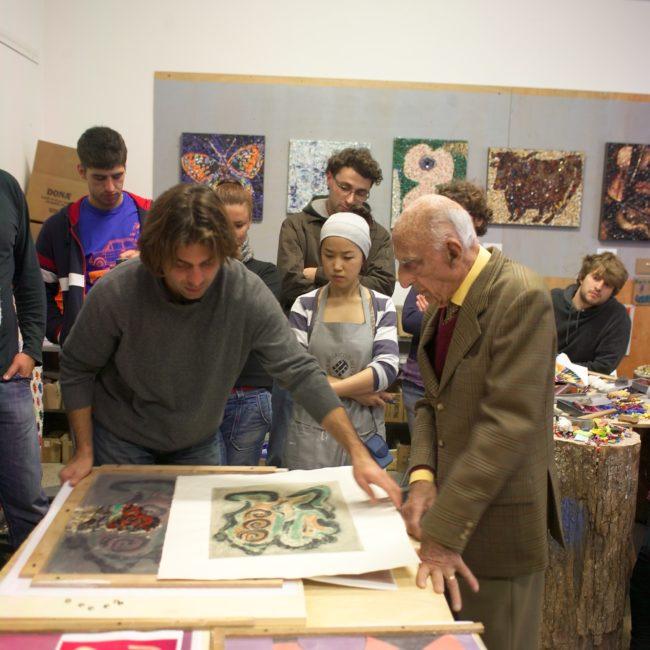 visit Gillo Dorfles at the Mosaic School November 2009
