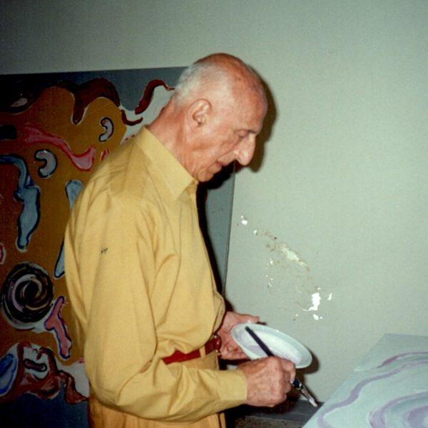 foto di Gillo Dorfles a Paestum 20010