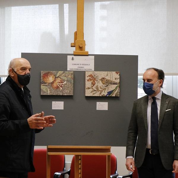 Facchina Award 2021_mayor Odorico_Victor Simoneau_Sebastian Pecile_ president Lovison