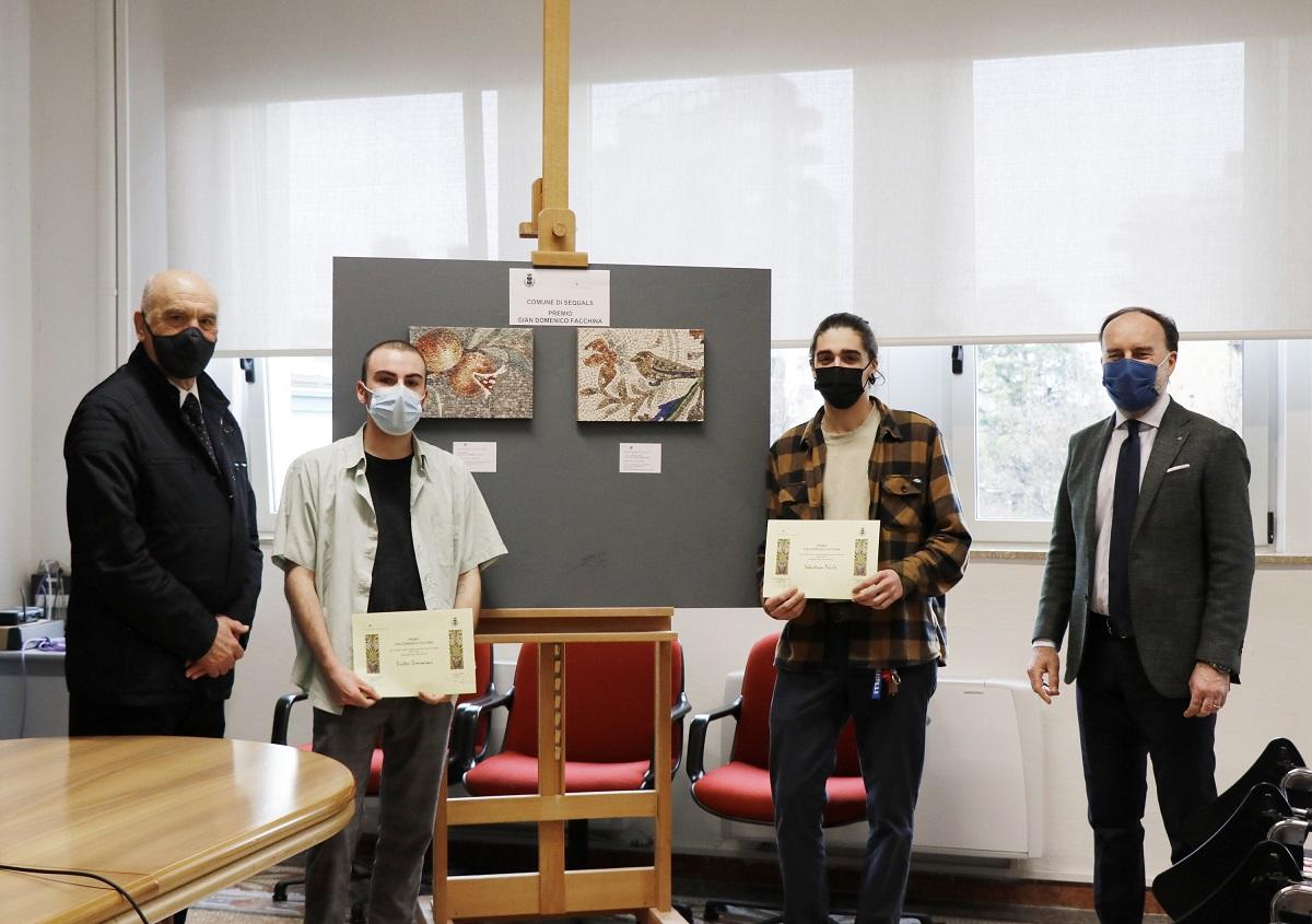 Premio Facchina 2021_sindaco Odorico_Victor Simoneau_Sebastian Pecile_presidente Lovison
