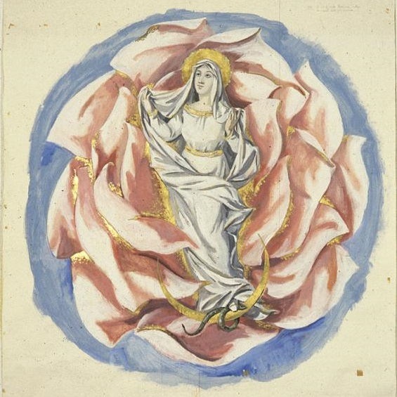 Sketch The Virgin in the Rose 1962