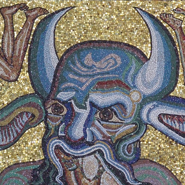 Copia della scena dell'Inferno della cupola del Battistero di San Giovanni a Firenze