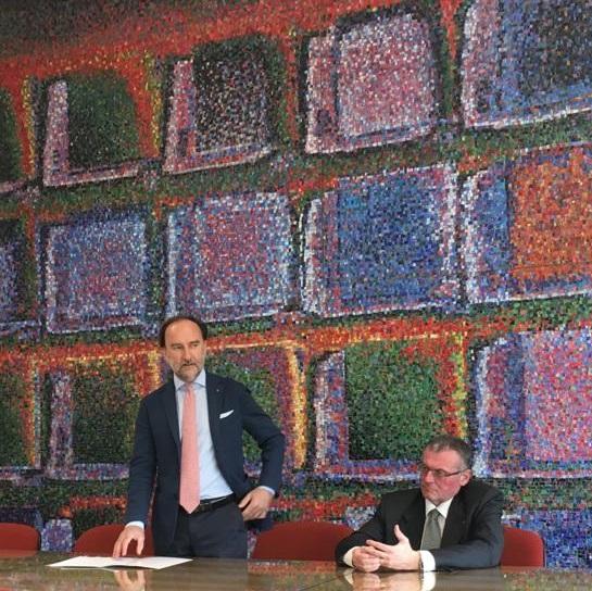 il dott. Renzo Francesconi e il presidente Lovison
