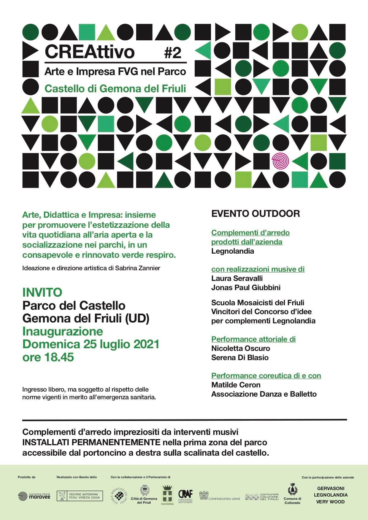 locandina evento creattivo Gemona
