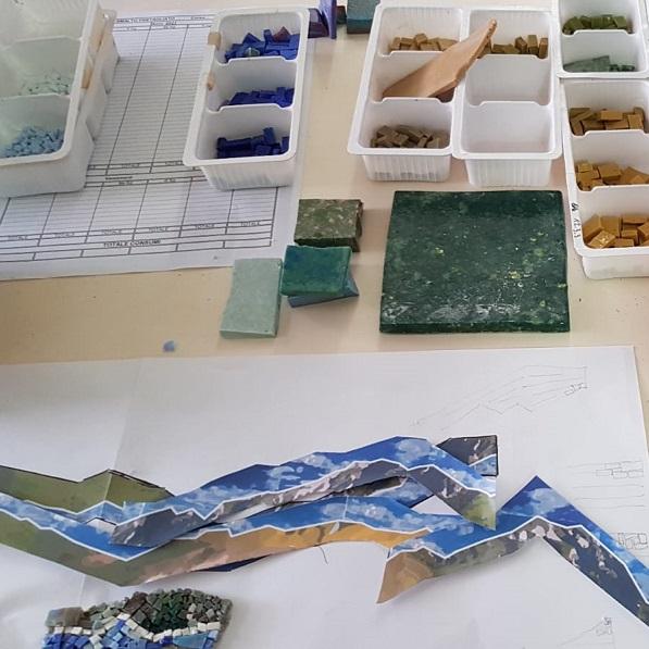 Prove di mosaico di Jonas Giubbini